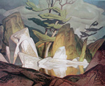 to Painting for November 2015 - week 1: Alfred Joseph Casson (Canadian, 1898 - 1992), Rock Pool, Cloche Hills, 1959