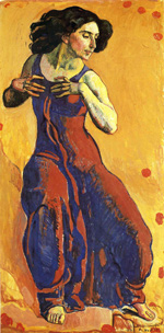 to Ferdinand Hodler, Woman in Extasy, 1911