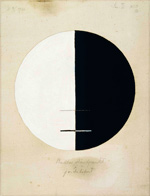 to the painting Hilma af Klint, Buddha's Standpoint in the Earthly Life, No. 3a, (1920) (Swedish)