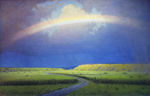 to painting Arkhip Kuindzhi, Rainbow, oil on canvas, 1900 - 1905
