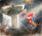 to the painting Roberto Matta, L´Impencible, 1957, oil on canvas