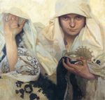 to Art7D.be, Painting for May 2016 - week 1, Alphonse Mucha, Fate, 1920