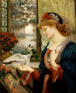 to Marie Spartali Stillman, Love's Messenger, 1885