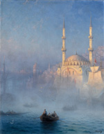 Ivan_Aivazovski (1817-1900), Constantinople, The mosque of Top-Kahné