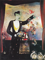 Floris Jespers, The illusionist, 1931, oil on triplex