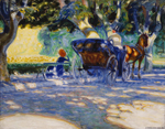 Verner Thomé (Finnish, 1878 - 1953), In the Borély Park, 1909