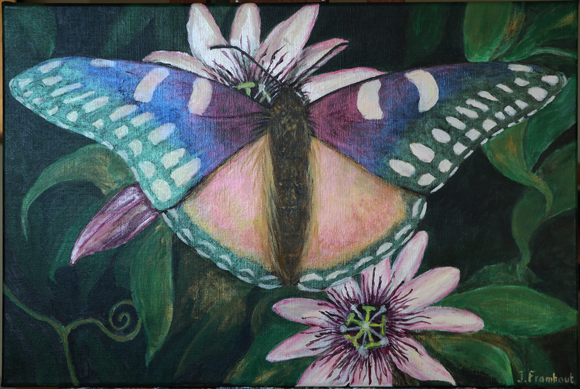 Art7D, Butterfly, acrylic painting by Johan Framhout