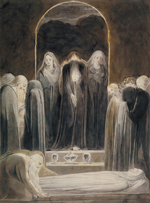 William Blake (1757-1827), The Entombment, c.1805, Ink and watercolour on paper