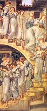 Sir Edward Coley Burne-Jones (1833–1898), The Golden Stairs, 1880, oil on canvas