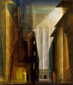 Lyonel Feininger (1871-1956), Church of the minorities II, 1926