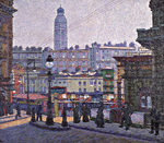 Charles Ginner, The Sunlit Square, Victoria Station, 1913