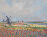 Claude Monet (1840 - 1926), Tulip fields near The Hague, 1886