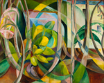 Mary Swanzy, Abstract Geometric Painting of Plants I, c. 1920