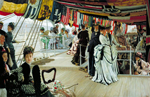 James Tissot, The ball on shipboard, c.1874