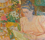 Jan Toorop, Portrait of Marie Jeanette de Lange (1900)