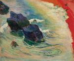 to Paul Gauguin, La vague, 1888, oil on canvas
