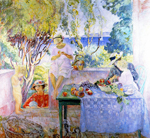 Henri Lebasque (1865-1937), Meal on the terrace