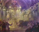 to Alfons Mucha, Holy mount Athos (via thehistoryblog)