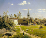 Vasily Dmitrievich Polenov, Moscow courtyard, 1878, oil on canvas
