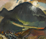 David Bomberg (1890-1957), Beddgelert (Moonlight), 1936