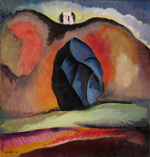 Man Ray, 1890-1976, Ramapo hills, 1914, oil on canvas