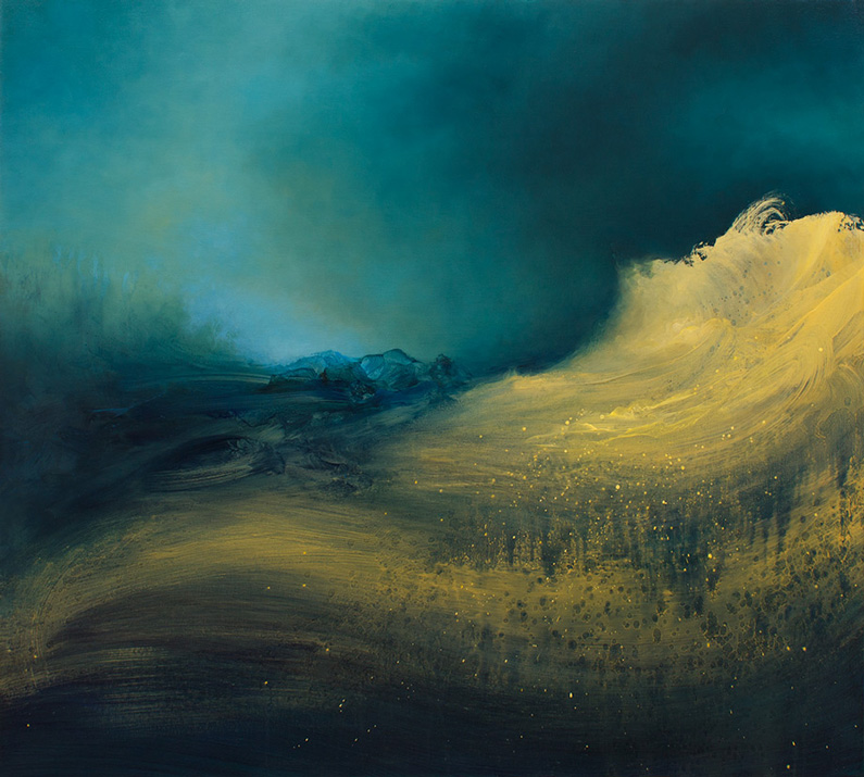 Samantha Keely Smith, Hearken ( oil, enamel & shellac on canvas)