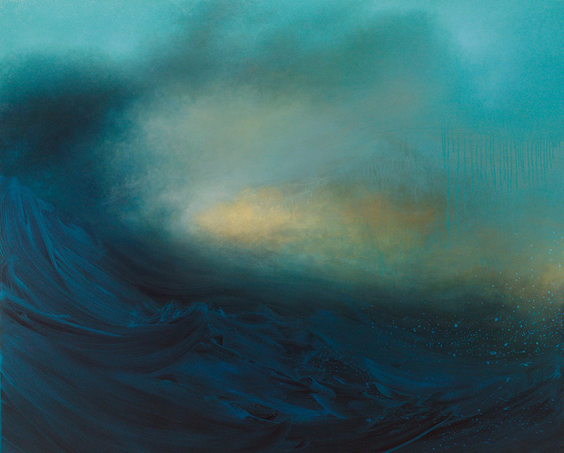 Samantha Keely Smith, Alibi (oil, enamel & shellac on canvas)