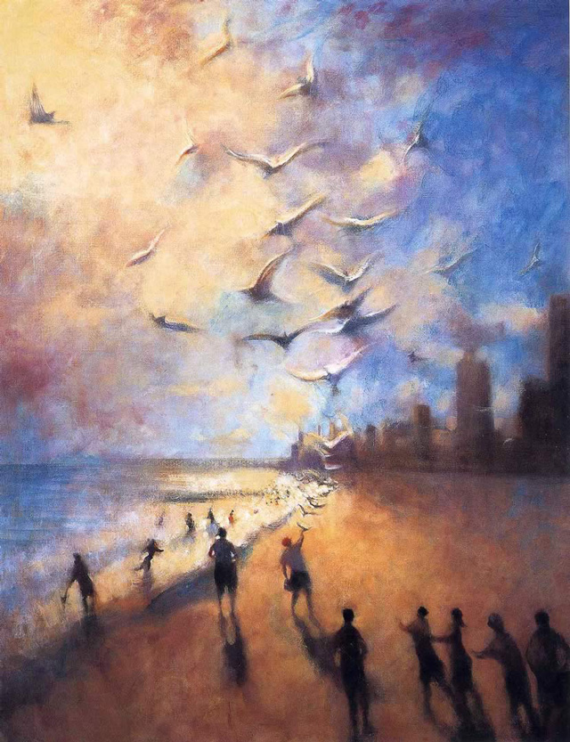 Bill Jacklin, St. Francis and the Birds, Coney Island