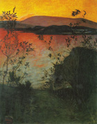 to Harald Sohlberg (Norwegian), Night Glow, 1905