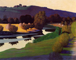 Felix Vallotton, Evening on the Loire, 1923
